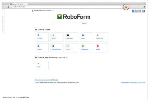 RoboForm Chrome 520x355 10 of the best multi platform password managers for iOS, Android and the desktop