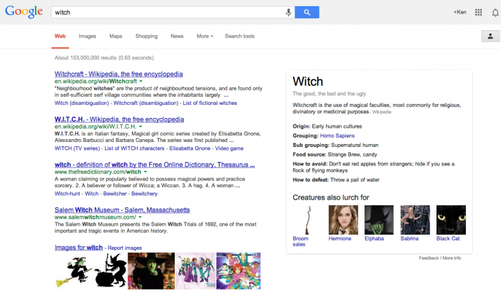 Screen Shot 2013 10 29 at 4.05.16 PM 730x427 Trick or Treat: Google lays some Halloween easter eggs in its Knowledge Graph