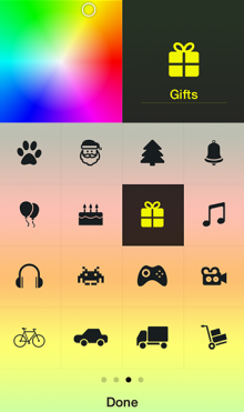 Screenshot 51 220x371 Tick for iPhone is an ambience aware to do list app that lets you choose your own colors