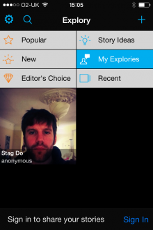 e3 220x330 Explory is a multimedia storytelling app from the creators of Flash