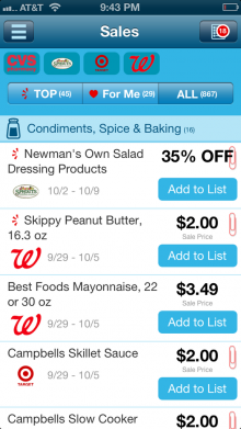favado 2 220x391 Savings.com's new Favado app crowdsources the best sales at your local grocery stores
