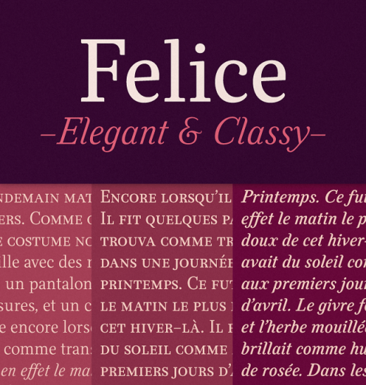 felice 520x546 20 of our favorite typefaces from this past month