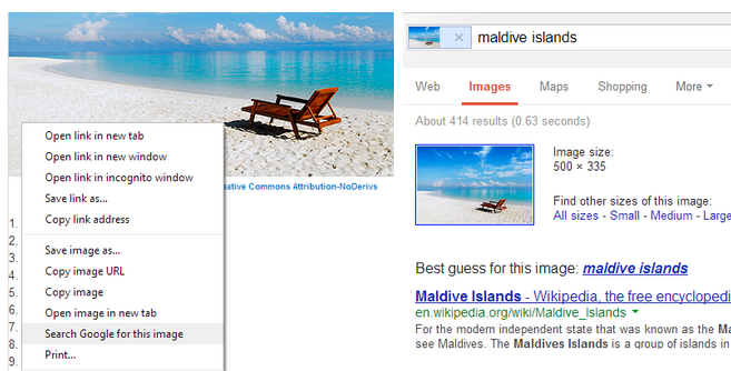 image search 1 Google rolls out Chrome 30 with easier searching by image and new touch based gestures on Android