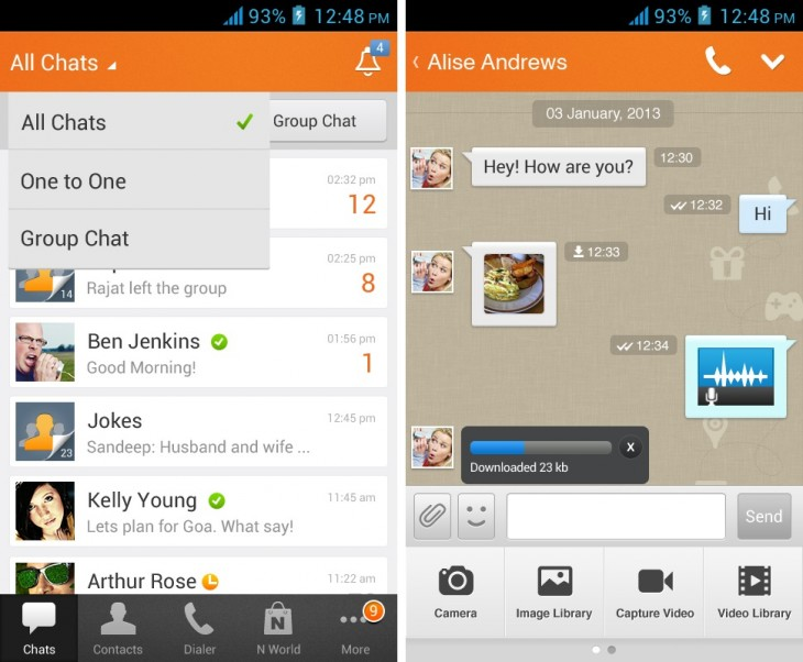 nimbuzz1 730x602 22 of the best mobile messaging apps to replace SMS on your smartphone