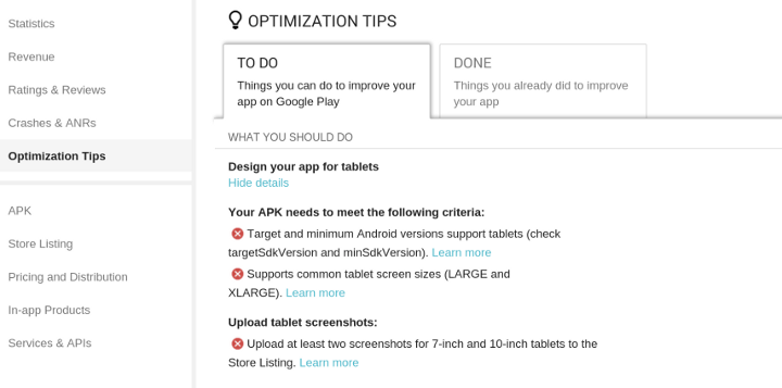 opt tips crop 720 Google Play will highlight dedicated tablet apps to tablet users by default from November 21