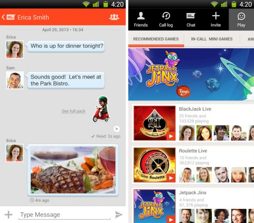 tango 520x457 22 of the best mobile messaging apps to replace SMS on your smartphone