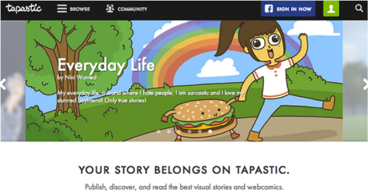 tapastic 520x273 Webtoons are the new stickers: Why companies should keep their eyes on Asias latest toon trend