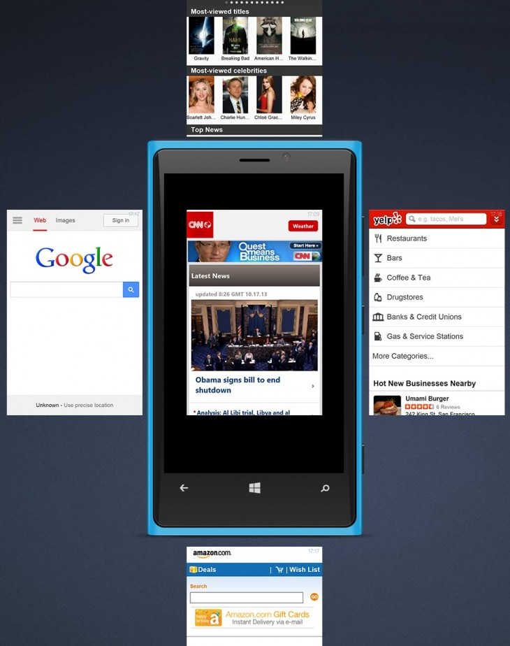 time tabs 730x924 Maxthon launches its mobile browser on Windows Phone with cloud syncing, gestures, and Live Tile support