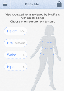 Fit for Me 220x315 ModCloth adds Fit for Me feature to help iOS users more easily find the clothes they want