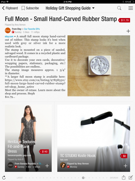 Flipboard Curated Holiday Shopping Catalog 520x693 Flipboard lets users add product listings to their magazines as it targets the e commerce space