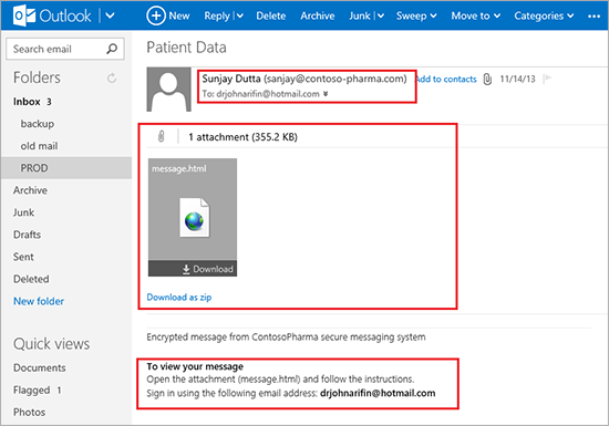 MSFT Encrypt 2 Starting early 2014, you can send encrypted emails in Microsoft Office 365 to anyone