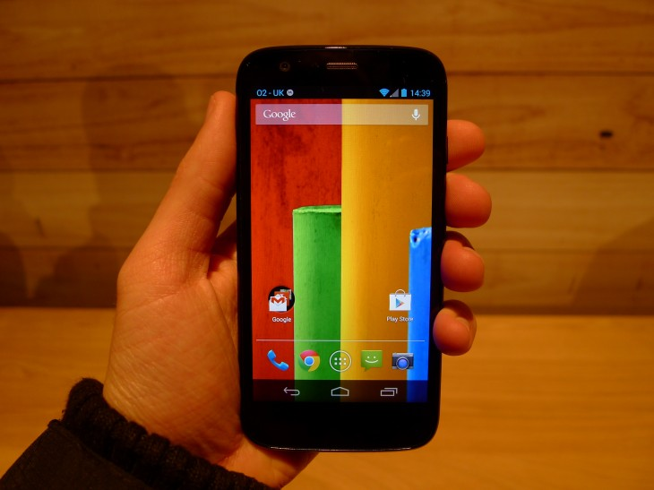 P1040585 730x547 Moto G hands on: Motorola ignores low end smartphone expectations with this stylish sub $200 handset