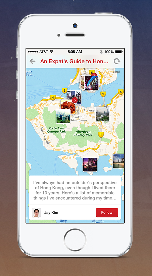 Place Pins iPhone Pinterest moves into travel after launching new tools to help users plan trips