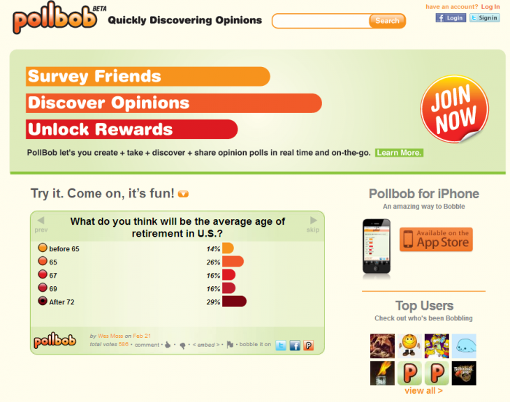 PollBob1 730x576 The best polling apps on the Web