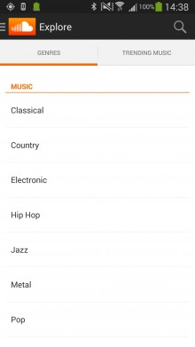 SoundCloud for Android now lets you explore trending tracks