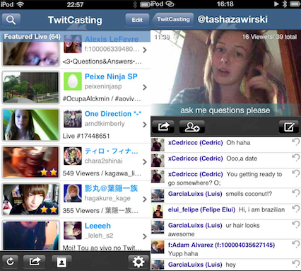 TwitCasting Live video app TwitCasting is popular with Japanese teens, and now its targeting the US