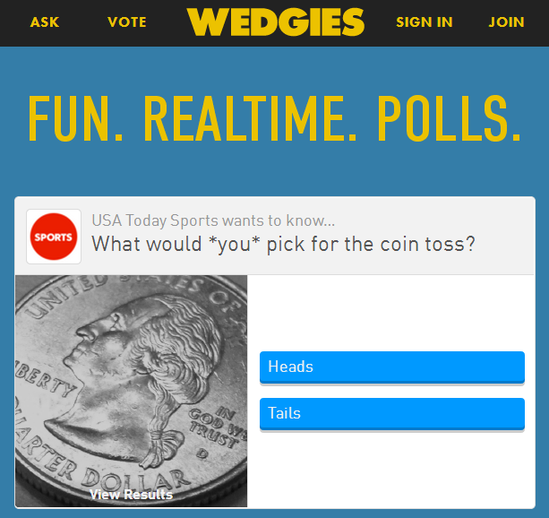 Wedgies home The best polling apps on the Web