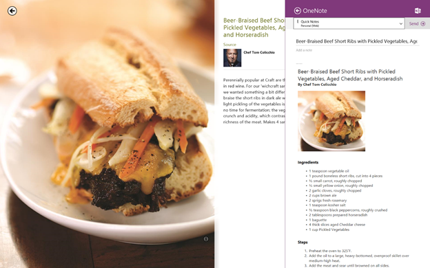 beef rib Microsoft updates its OneNote Metro app with Share Charm integration, camera scanning, and OCR support