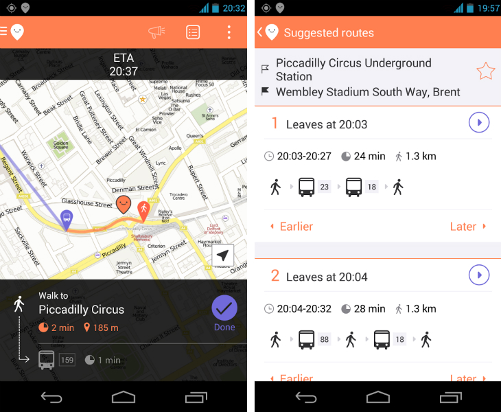 moovit1 Moovit redesigns its public transit app on Android, adds service alerts and drop a pin destinations