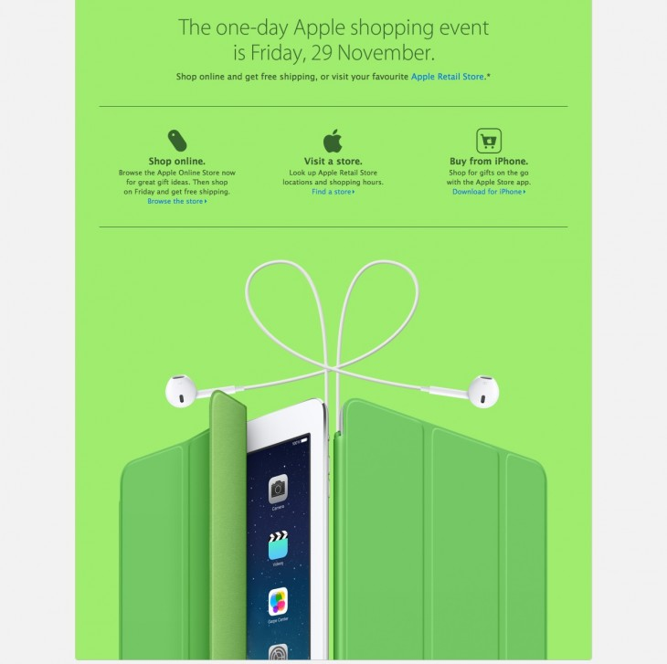 resource3 730x727 Apple will hold a Black Friday event on November 29, free shipping online and deals in store