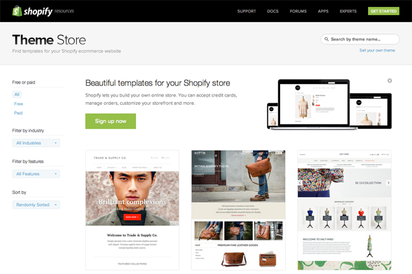 shopify theme store A beginners guide to launching an e commerce site in a day
