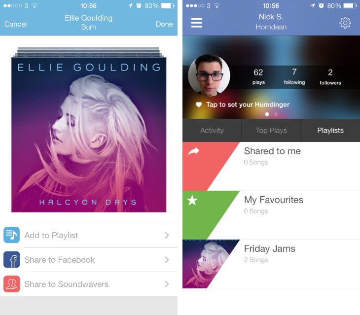 soundwave Soundwave now lets you create your own playlists in the iOS version of its social music app