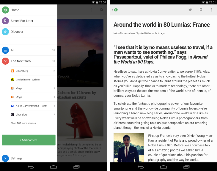 Feedly1 So you've just got an Android device? Download these apps first