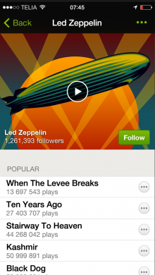 LZ Artist Page Still 220x390 Whole lotta streaming: Led Zeppelin finally arrives on Spotify...exclusively