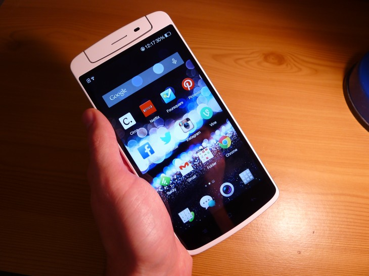 P1040715 730x547 Oppo N1 review: The giant CyanogenMod smartphone delivers with an impressive 13MP rotating camera