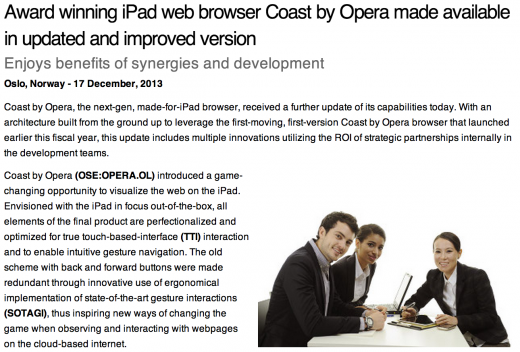 Screen Shot 2013 12 17 at 10.56.50 520x352 If you hate press releases, check out Operas PR Machine
