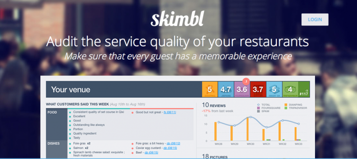 Screen shot 2013 12 11 at PM 10.25.48 730x325 Founded by 3 French men, Skimbl helps restaurants in China improve their customer service