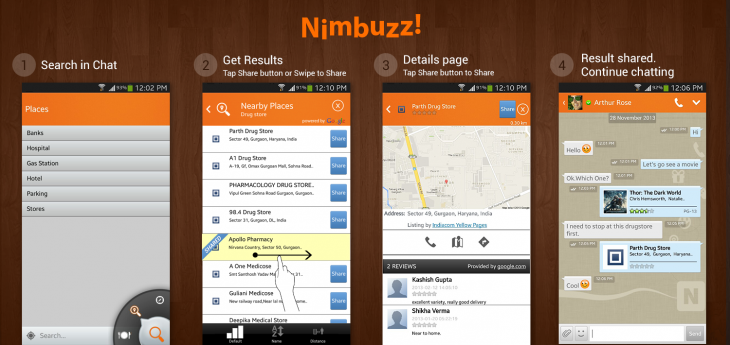 Sprylogics Nimbuzz User Journey 730x345 Nimbuzz users can now search and share videos and other content from inside the chat app