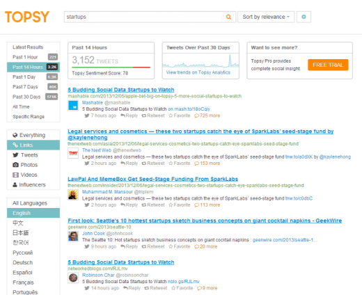 Twitter Search Monitoring Analytics Topsy.com  520x424 Tags and hashtags: The ultimate guide to using them effectively