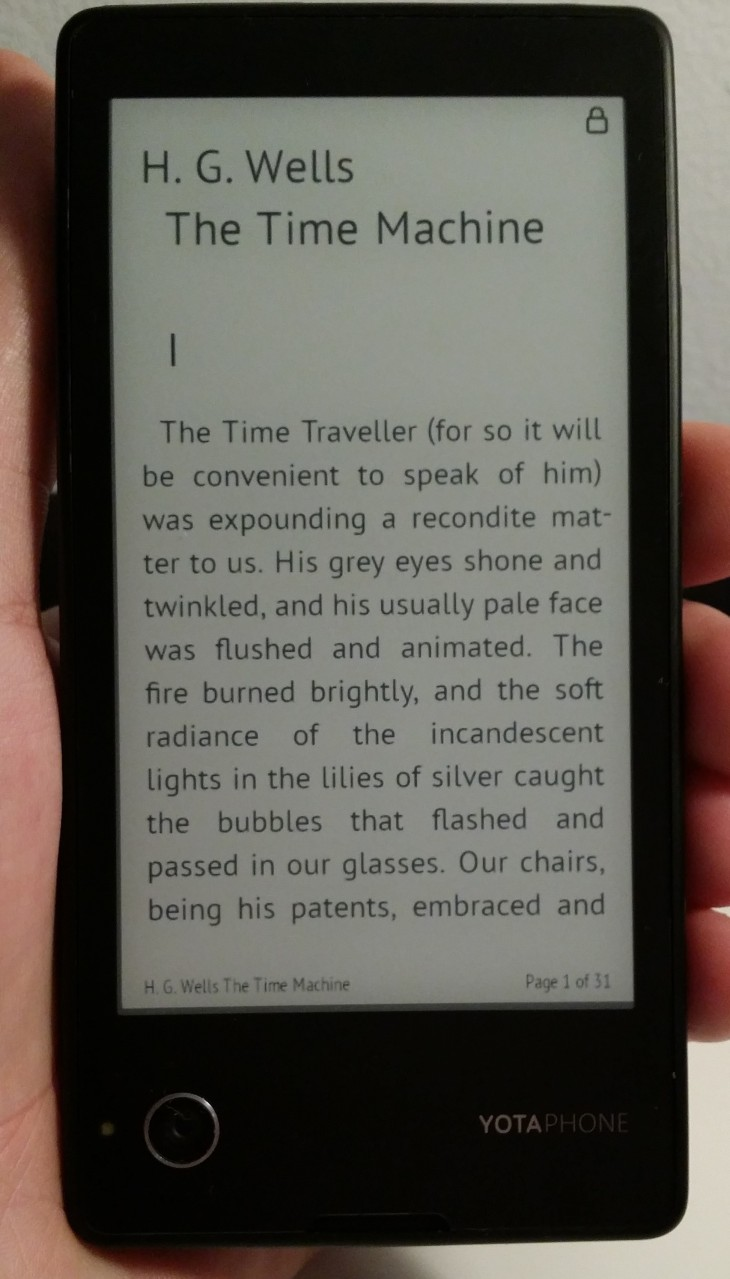 YP ebook 730x1279 Hands on with the dual screen YotaPhone, the rarest of Android handsets: a smartphone/e reader hybrid