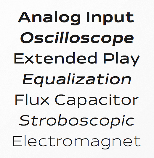 analog The best typefaces of 2013