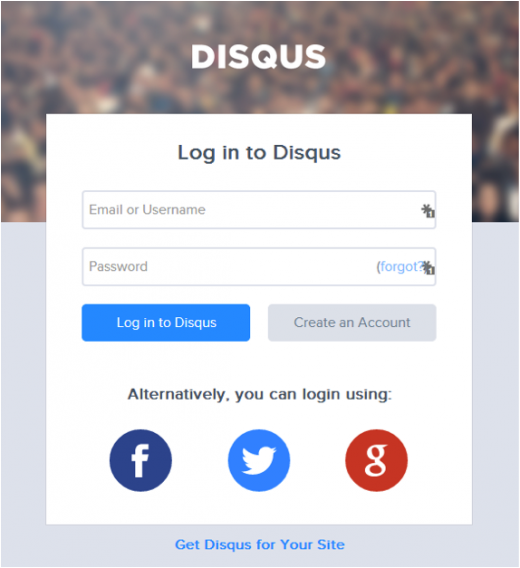 disqus log in 520x568 How to successfully use blog commenting to acquire new users (without being spammy)