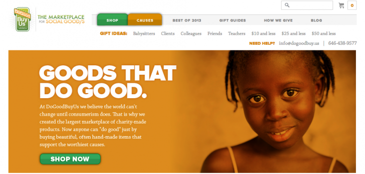 dogoodbuyus 730x349 8 startups that leveraged products for social good, and where theyre headed in 2014
