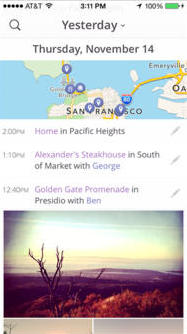 Heyday for iOS automatically journals your photos and locations so you don't have to