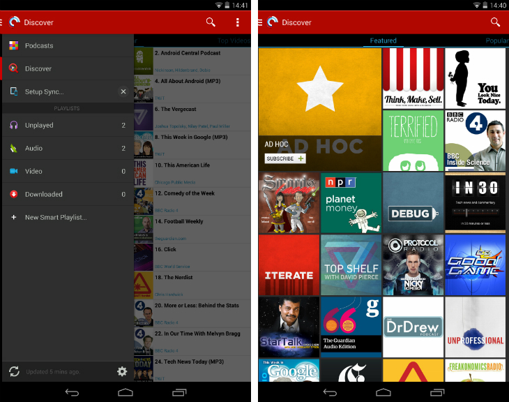 pocketcasts1 10 must have Android apps for keeping on top of the news