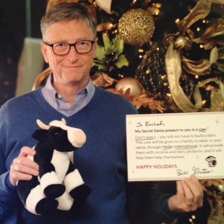 spoiler alert bill gates did not get you because he got me 1387410864 This girl lucked out after landing Bill Gates as her Reddit Secret Santa