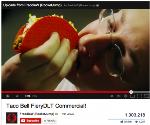 taco bell fierydlt 520x434 Want to increase your brands relevancy? Partner up with tween YouTube stars