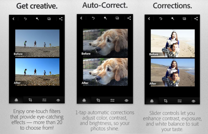 Adobe Android 730x470 Adobe overhauls its Photoshop Express app for Android, makes it KitKat compatible