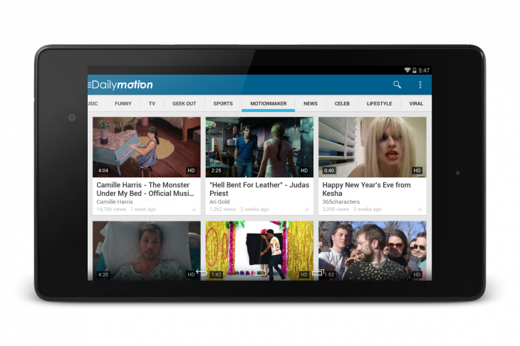 Dailymotion 730x486 Dailymotion updates Android app with new design, navigation and video history