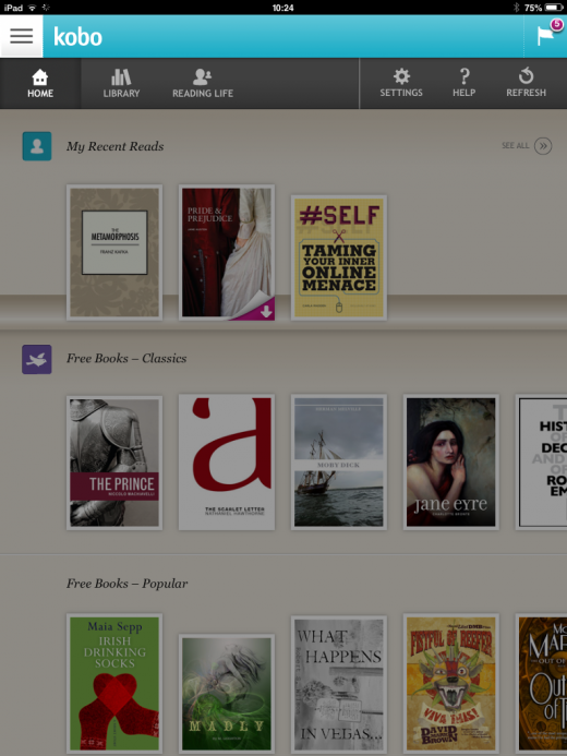 Photo 10 01 2014 10 24 14 520x693 Kobo updates for iOS 7 with new navigation menu, redesigned library and more