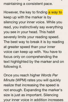 Photo 16 01 2014 16 16 32 220x330 Outread for iOS highlights text to help speed your way through your reading list