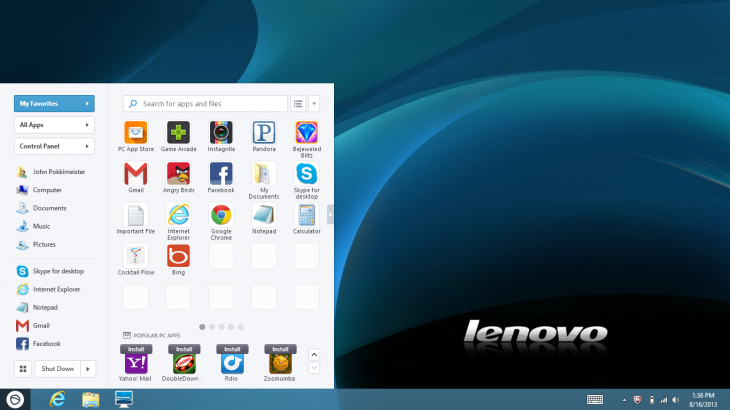 Pokki Start Menu Lenovo Win8 730x410 20 West Coast based startups to watch in 2014
