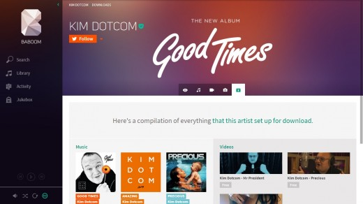 baboom5 520x292 Kim Dotcom gives a sneak preview of Baboom, his new music streaming service