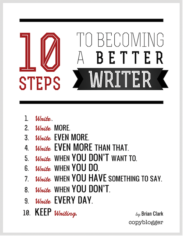 better writer graphic Writing novice? 6 best pieces of advice from successful authors