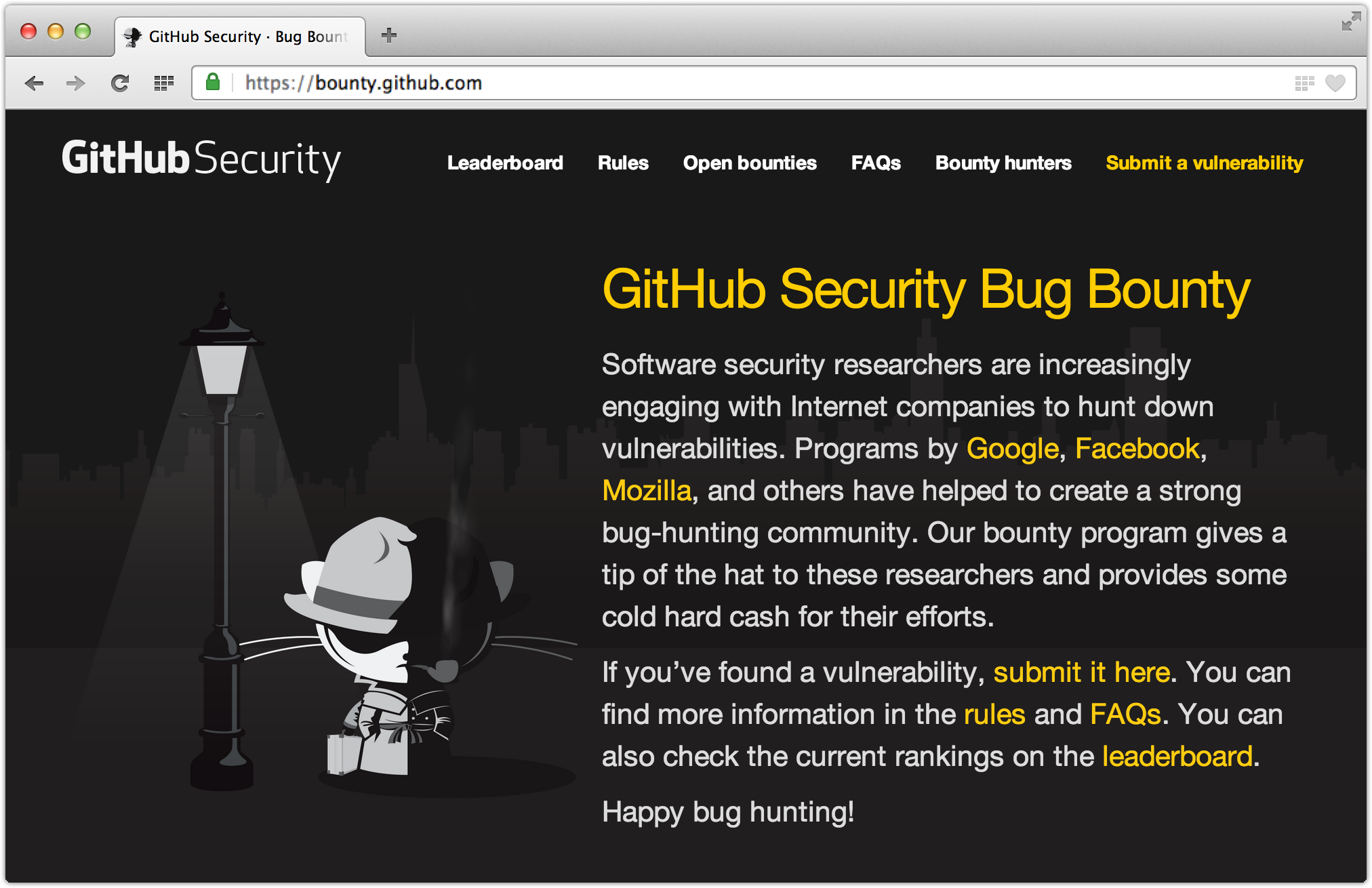 c01e695e 89d6 11e3 82f3 2efe4cdc16a1 GitHub launches Bug Bounty program, offers between $100 and $5,000 for security vulnerabilities