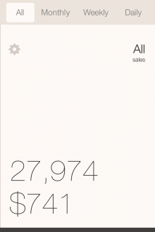 e5 220x330 Looking for a simple tool to track your iOS app downloads and revenues? Check out the Stat App for iPhone